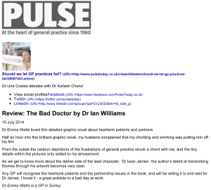 Review: The Bad Doctor by Dr Ian Williams | Comment | Pulse Today